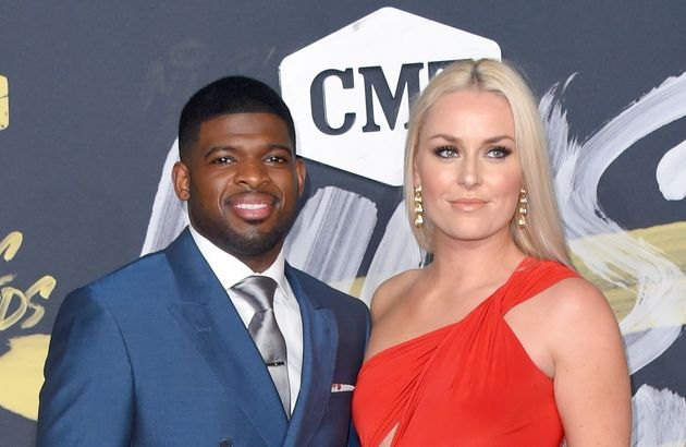 P.K. Subban and Lindsey Vonn make their first public appearance together at the CMT Music Awards in