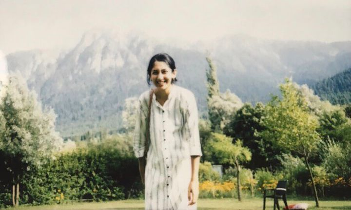 Sanna Wani is pictured here in Mamer, in Indian-controlled Kashmir, in July 2019, a couple of weeks before the curfew was enacted.