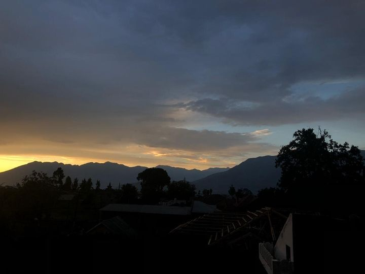 View from Sanna Wani's family house in Srinagar in July 2019.