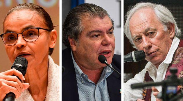 Marina Silva, Sarney Filho, Carlos Minc: ex-ministro do Meio Ambiente juntos contra políticas...