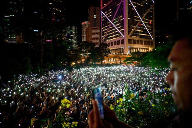 香港の「人間の鎖」