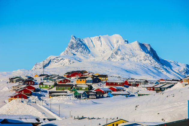 グリーンランドの首都「ヌーク」の街並み