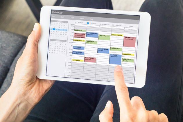 オンライン予定表で部局内の予定がすぐにわかる