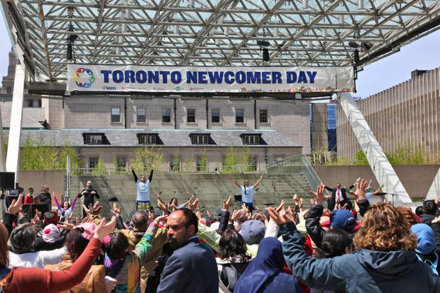 New immigrants to Canada and new Canadians take part in the 5th Annual Newcomer Day at Nathan Philips...