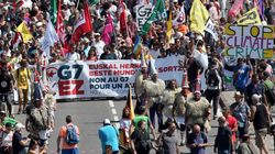 Les pancartes les plus inspirées des anti-G7 de Hendaye à