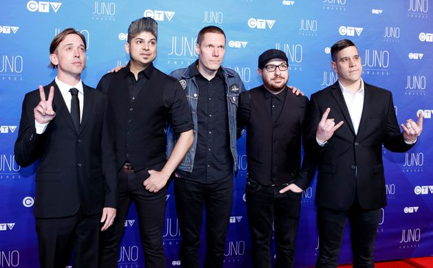 Billy Talent arrives on the red carpet for the 2017 Juno Awards in Ottawa on April 2,