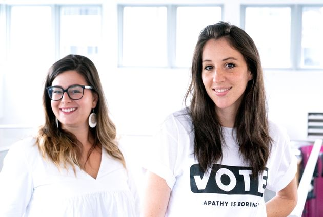 Caro Loutfi, right, manager of Apathy is Boring, and Samantha Reusch are seen in their office in Montreal...