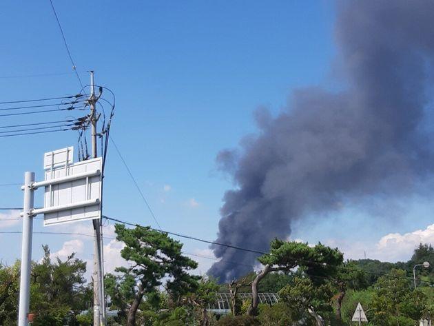 청주 전자제품 공장에서 화재가