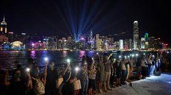 Laser, pub, post-it: à Hong Kong, la créativité des