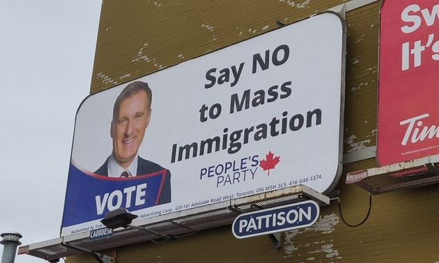 Billboards have popped up in several Canadian cities in support of Maxime Bernier's People's