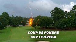 La foudre tombe en plein tournoi de golf et fait six