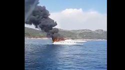 Le bateau de Maître Gims s'embrase au large de la Corse, le rappeur