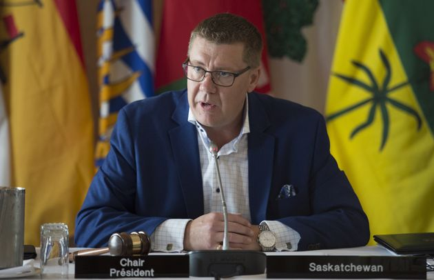 Saskatchewan Premier Scott Moe is seen here in Saskatoon on July 10,