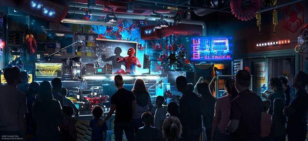 ディズニーが「マーベルランド」発表。スパイダーマンやアベンジャーズのライドも