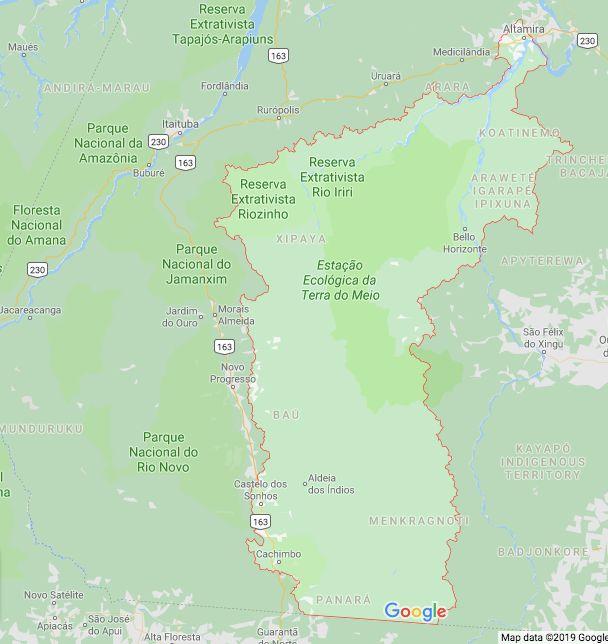 Uruará e Medicilândia ficam mais ao norte de Altamira, enquanto Cachoeira da Serra fica...