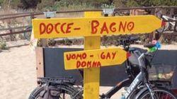 Il cartello per il bagno divide in donne, uomini e gay. Polemiche in