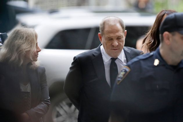 Harvey Weinstein arrives in court Monday in New York. Weinstein's lawyers want his criminal trial moved...
