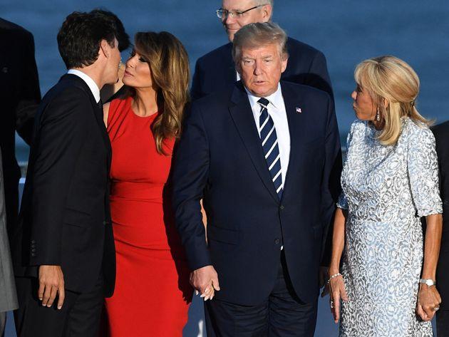 Το φιλί της Μελάνια Τραμπ...