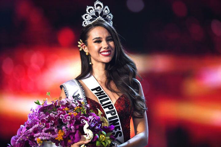 Catriona Gray of the Philippines smiles after being crowned Miss Universe 2018 on Dec. 17 in Bangkok.