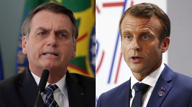 Brazilian President Jair Bolsonaro and French President Emmanuel Macron have been at odds in recent days...