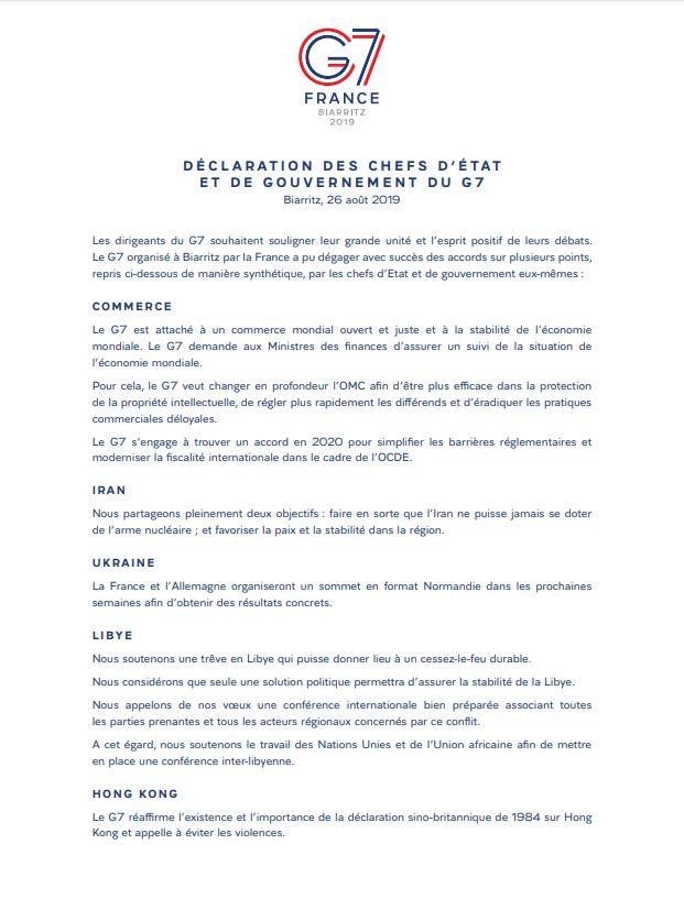 C'est ce document d'une page, qu'Emmanuel Macron dit avoir rédigé lui-même, qui fait...