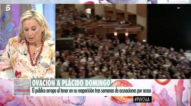 Mariángel Alcázar sorprende al hablar de Plácido Domingo en 'El programa de AR':