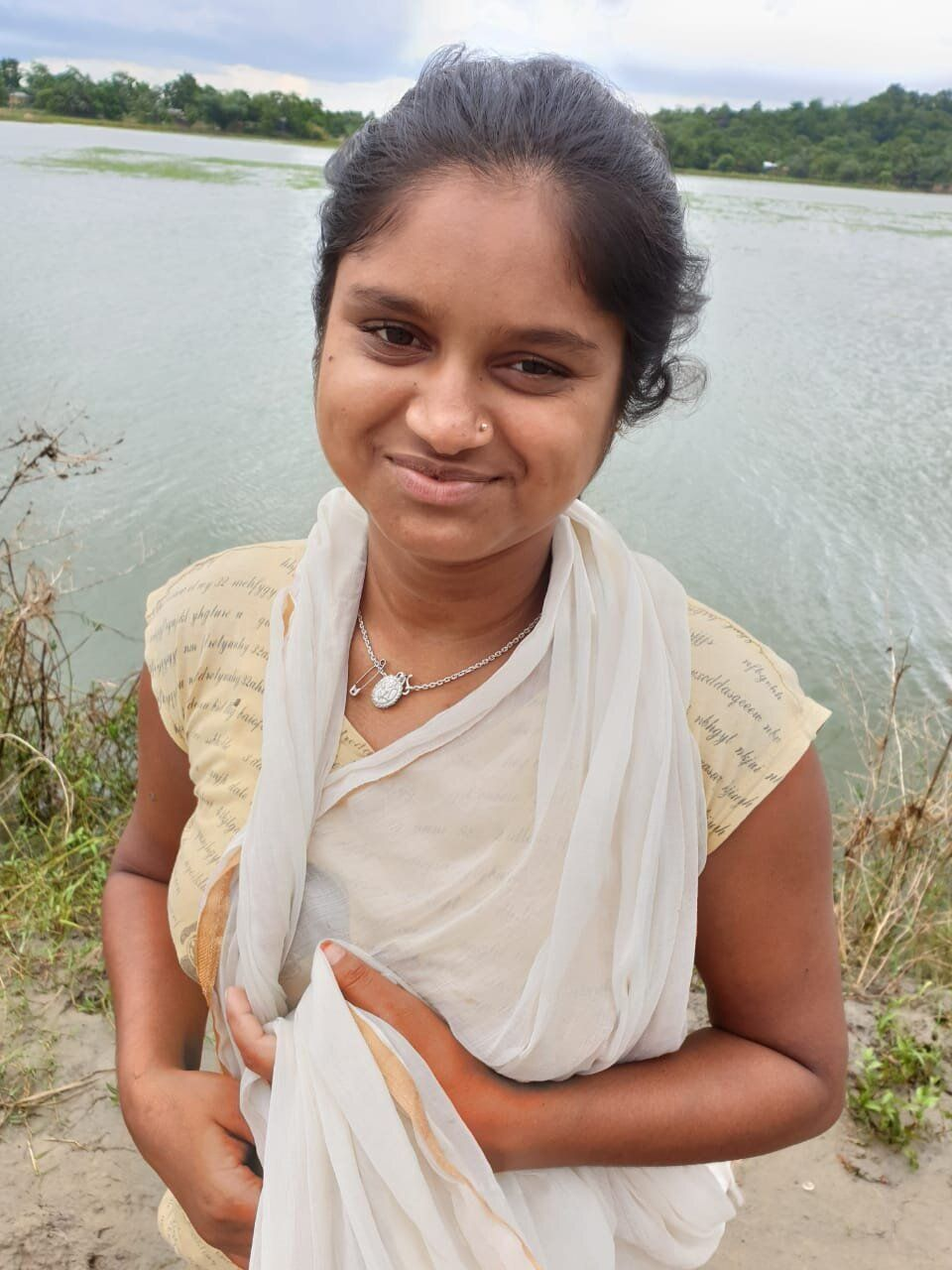 15-year-old Kalpana is uneducated, as she had to discontinue school after landing in a detention