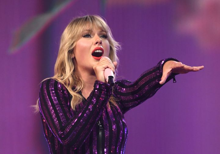 "Taylor Swift performs songs from her new album ""Lover"" at the Amazon Prime Day concert."