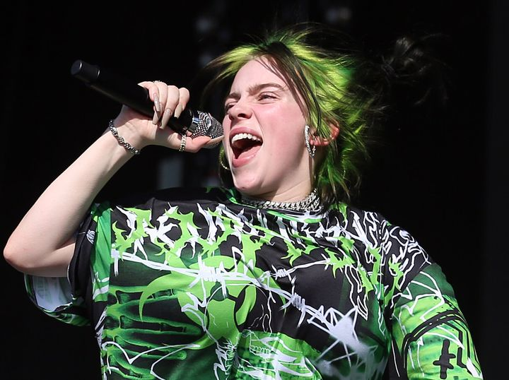 Billie Eilish is heading into the night with nine nominations.