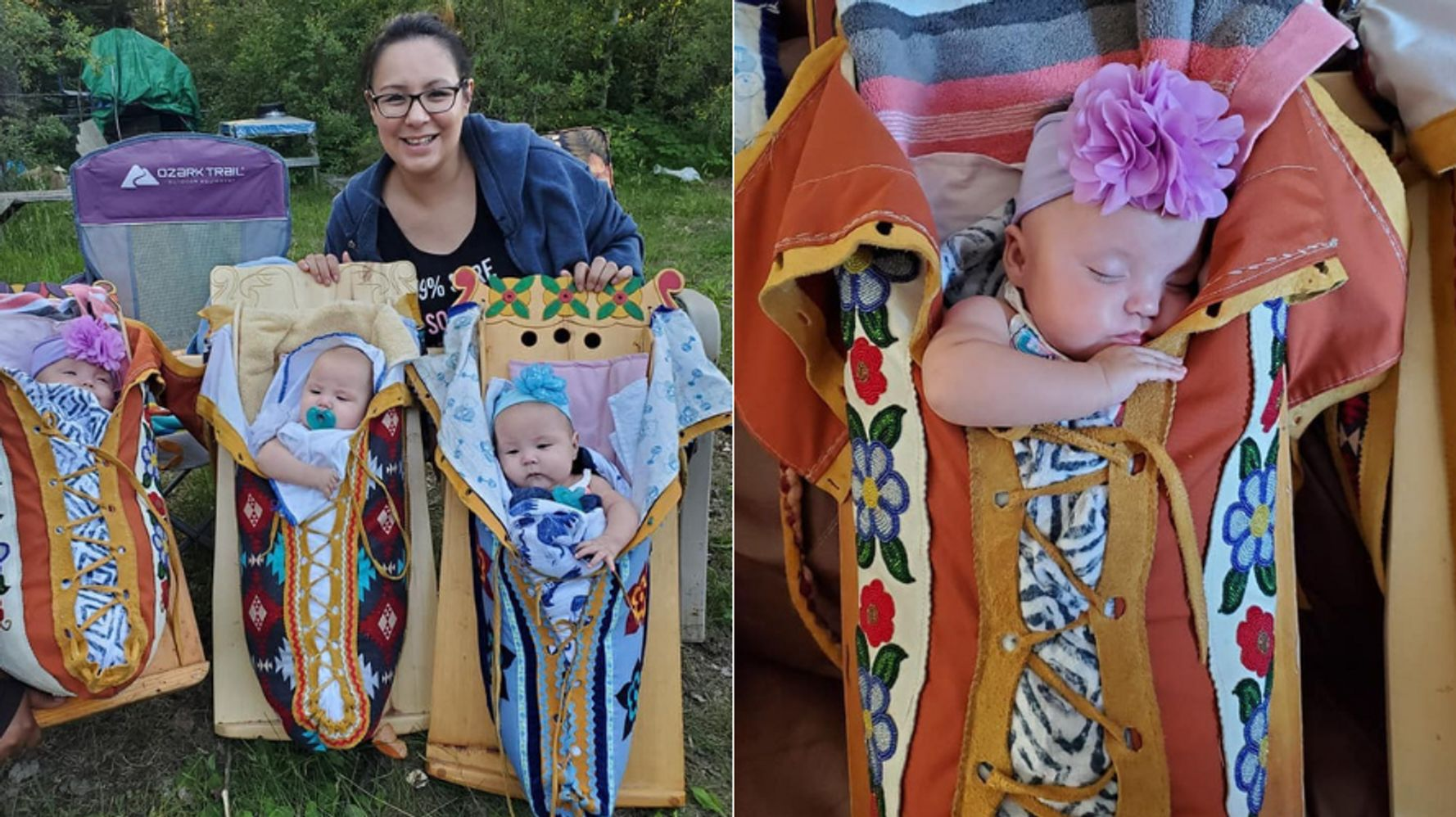 The Story Behind Viral Photo Of Oji-Cree Mother And Her Triplets