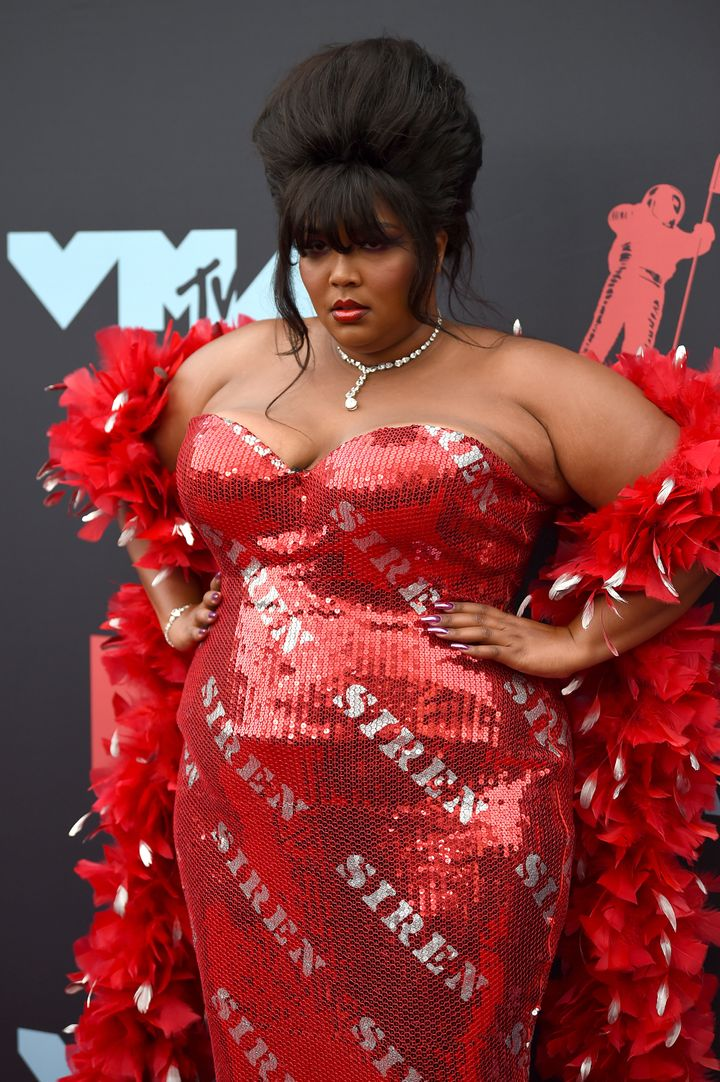 NEWARK, NEW JERSEY - AUGUST 26: Lizzo attends the 2019 MTV Video Music Awards at Prudential Center on August 26, 2019 in Newa
