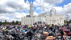 Watch As 250 Motorcycles Descend On An Ontario Mosque For