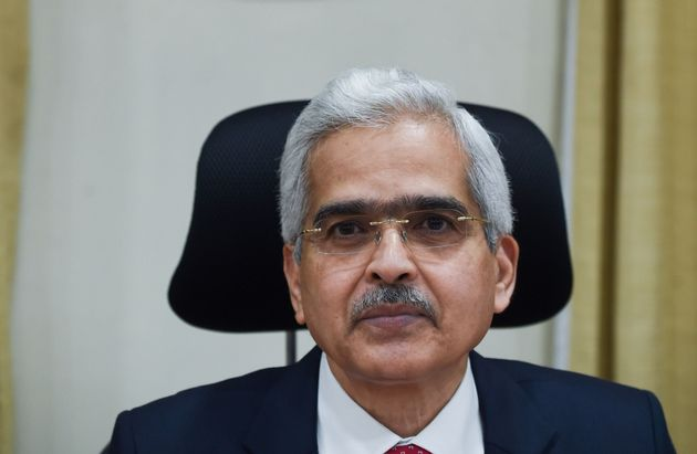 Reserve Bank of India (RBI) governor Shaktikanta Das attends a press conference at RBI headquarters in...
