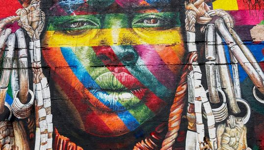 El enorme mural de los Juegos Olímpicos con el que vas a