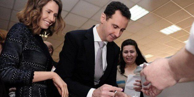Asma y Bachar el Asad, votando esta semana en