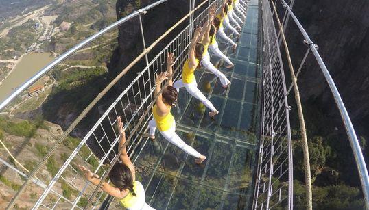Una sesión de yoga de altura
