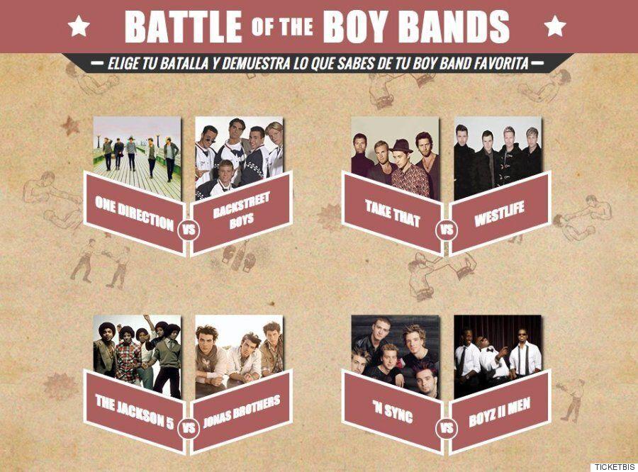 La batalla de las 'boy bands': ¿cuánto sabes de grupos como One Direction, Take That o Backstreet Boys?