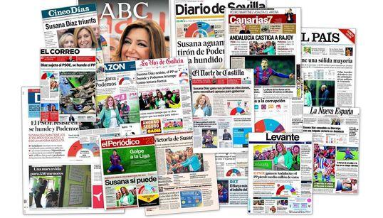 Las portadas de la victoria del PSOE en