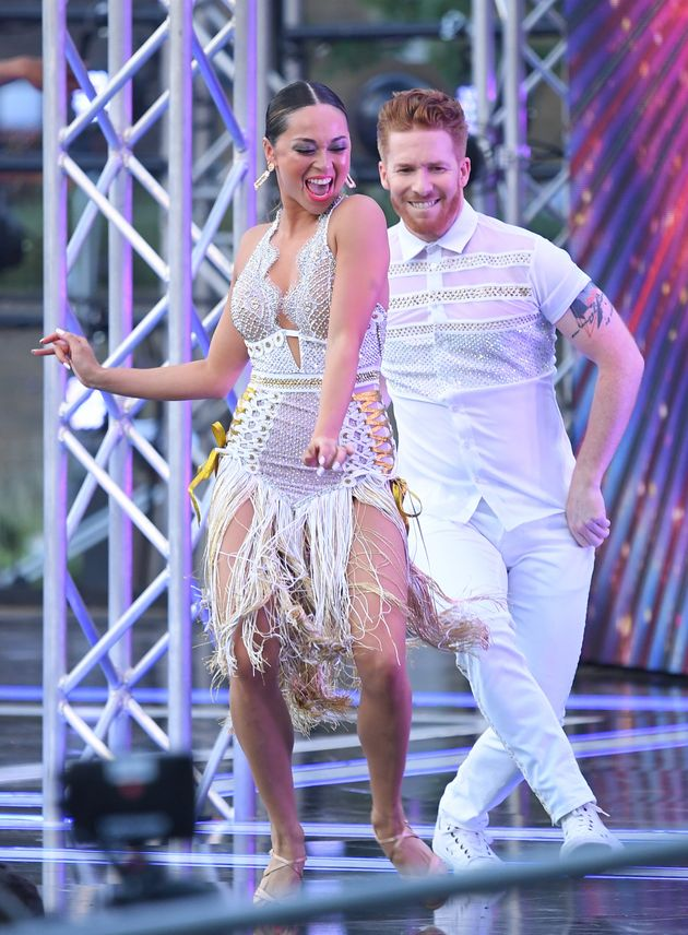 Neil and Katya Jones performed together despite their marriage