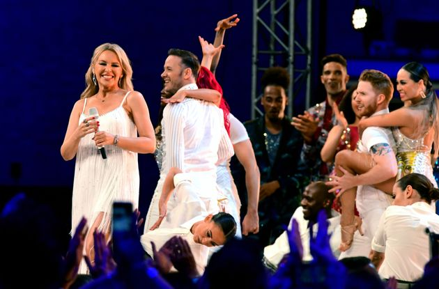 Kylie Minogue performed with the professional