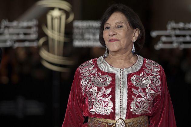 L'actrice marocaine Amina Rachid lors de la 14e édition du Festival international du film de Marrakech...