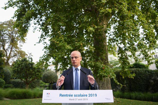 Jean-Michel Blanquer au ministère de l'Éducation nationale lors de la présentation...