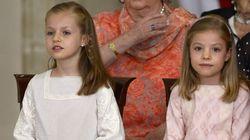 Leonor y Sofía, protagonistas la firma de la ley de abdicación del rey Juan Carlos