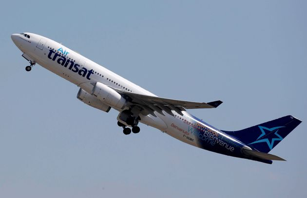 An Airbus A330-200 aircraft operated by Air Transat airlines takes off in Colomiers near Toulouse, France,...