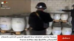 La televisión oficial muestra las armas químicas de Siria