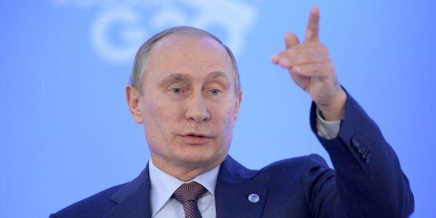 Vládimir Putin durante la conferencia de prensa en el