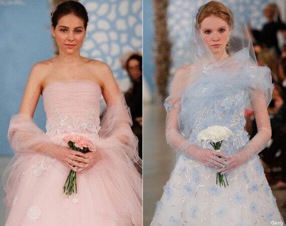 Vestidos de novia para 2014: blanco y negro entre las propuestas de la pasarela de Nueva York