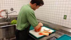 Cómo cortar una sandía en 20 segundos
