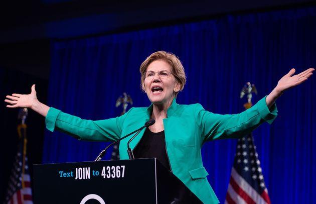 Elizabeth Warren, en el Comité Nacional del Partido Demócrata en San Francisco, el pasado...