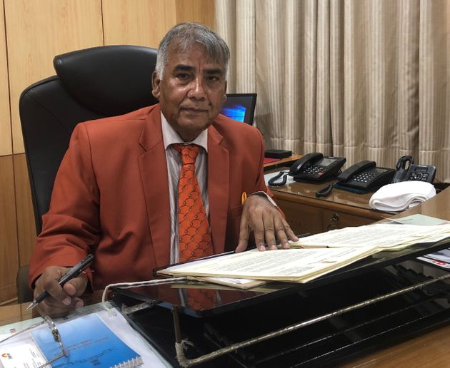Press Council of India Chairman Justice Chandramauli Prasad (Retd) in his office at the Soochna Bhawan...